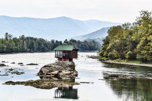 Drina and Tara tour, western Serbia, The house on Drina river